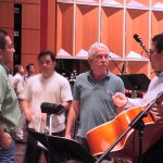 During rehearsal with Milwaukee Symphony Orchestra